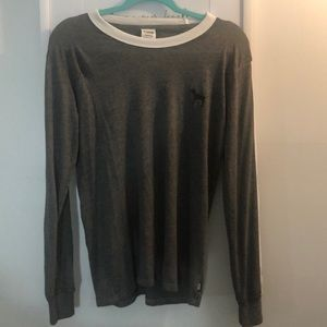 Gray PINK long sleeve *lightly worn